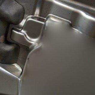 Vytištěná vložka přišroubovaná ke kovové formě