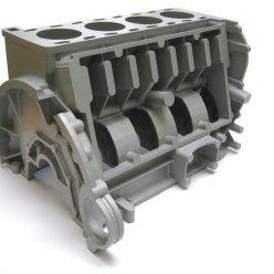 Kovová část motoru s otevřenými válci