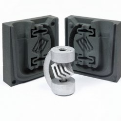 Komplexní tvar kovového odlitku díky   formě vyrobené 3D tiskem
