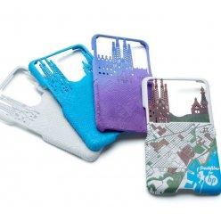 Plastový kryt telefonů v různých barevných provedeních vyrobené barevným 3D tiskem