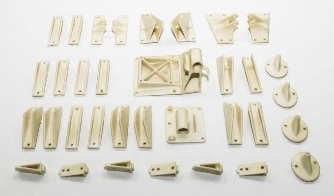 Forma z 3D tiskárny Voxeljet pro odlévání hliníkových dílů.