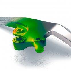 Vizualizovaný 3D díl s projektovanou heatmapou