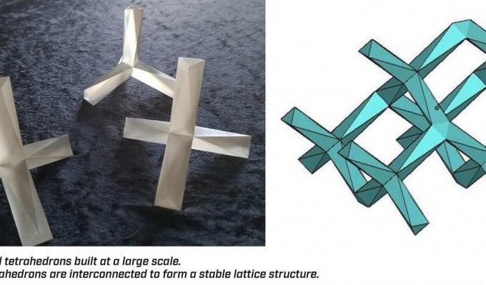 3D díly vnitřní mřížky modelu Chicago Hancock building