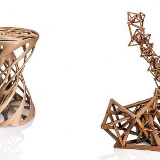 Finální kovové díly organického tvaru vyrobené pískovým litím do 3D vytištěné formy