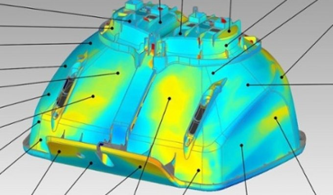 Digitální model pro 3D tisk s promítnutou heatmapou