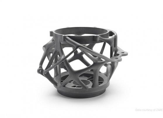 Optimalizovaný díl vytištěný na 3D tiskárně HP Jet Fusion 5200